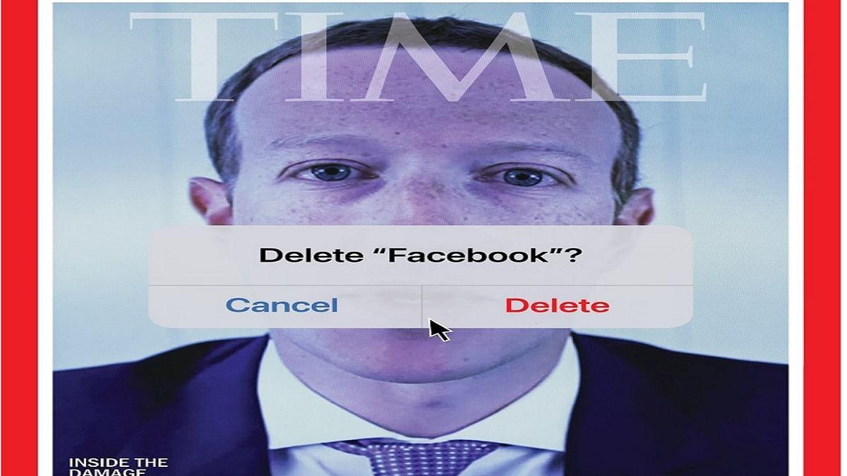 Mark Zuckerberg का बिगड़ गया TIME? मैगजीन ने कवर पर Facebook CEO का फोटो लगाकर कैप्शन दिया Delete Facebook?