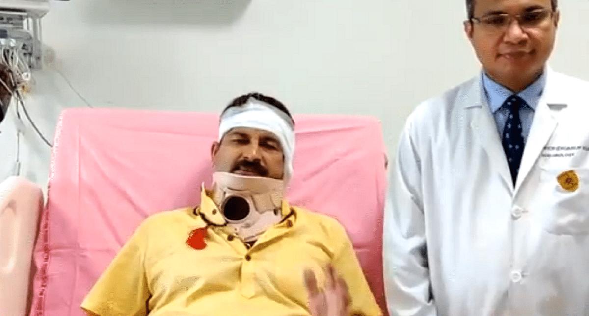 मनोज तिवारी प्रदर्शन के दौरान घायल, अस्पताल में भरती, छठ पूजा पर प्रतिबंध का कर रहे थे विरोध