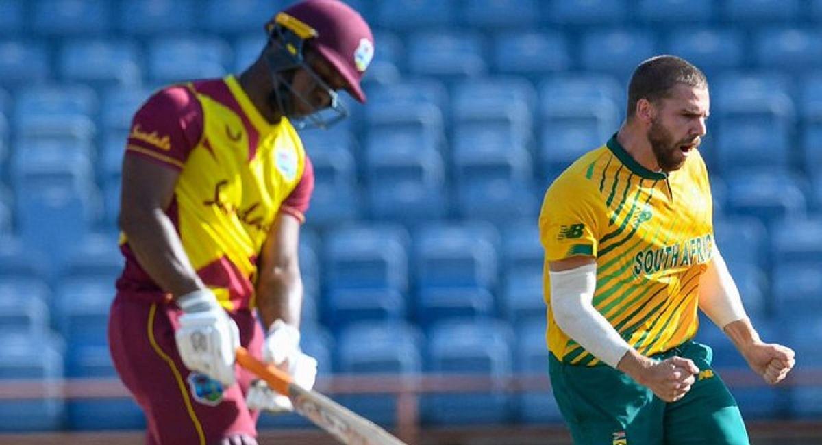 WI vs SA T20 WC Live Score: लुईस का अर्धशतक, वेस्टइंडीज ने दक्षिण अफ्रीका को दिया 144 रन का लक्ष्य
