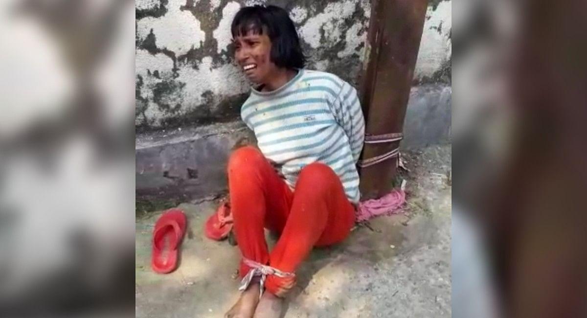 बंगाल में महिला को बिजली के पोल से बांधकर पीटा, मोबाइल फोन चोरी करने का था आरोप
