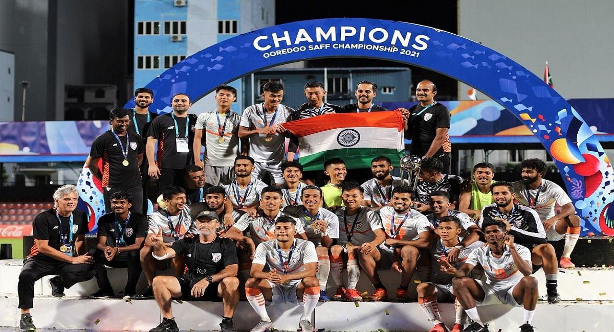 भारत ने 8वीं बार जीता सैफ चैंपियनशिप, सुनील छेत्री ने मेस्सी के सबसे अधिक गोल की बराबरी की