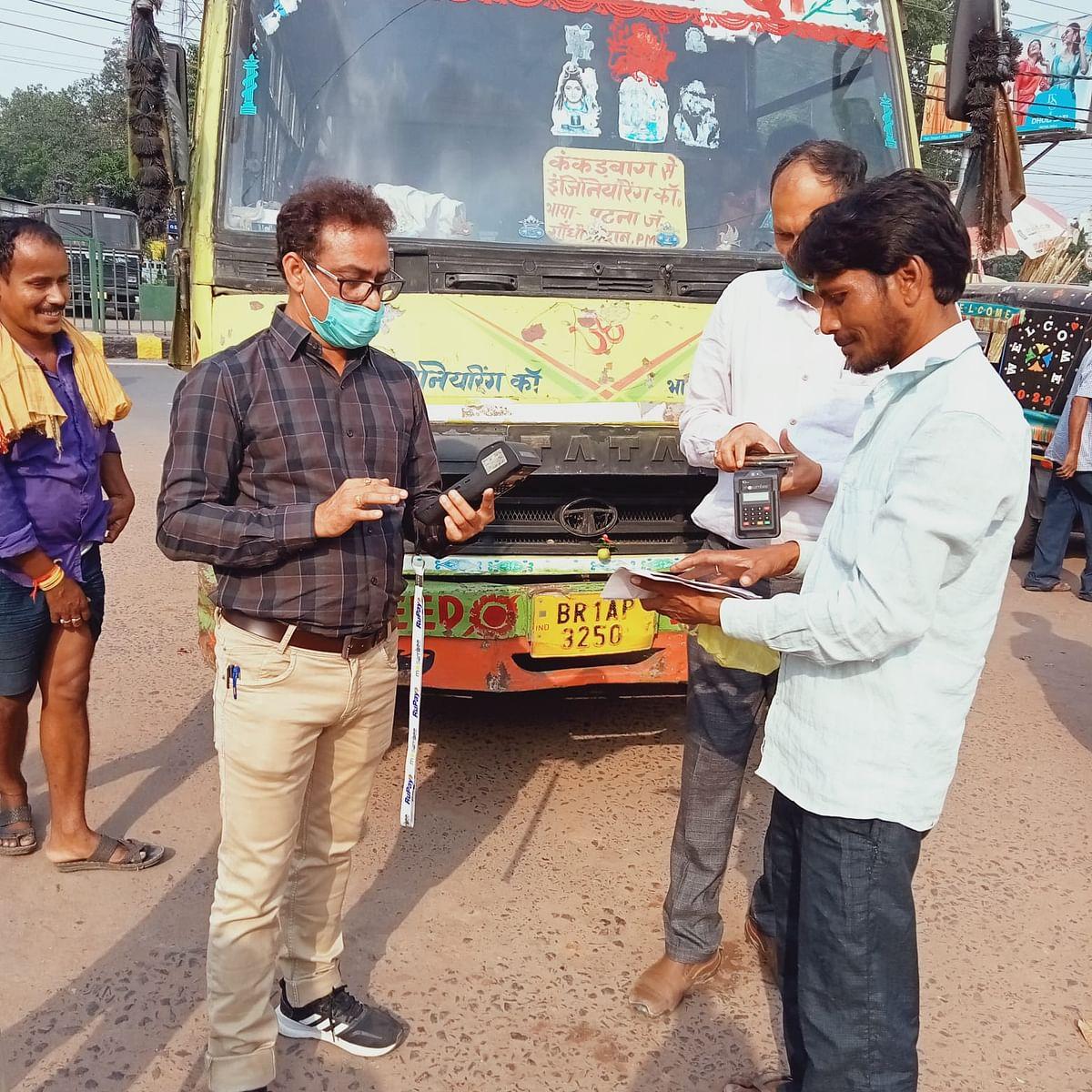 Bihar Transport News: हेलमेट-सीटबेल्ट के साथ सभी जिलों में चला प्रदूषण एवं परमिट  जांच अभियान