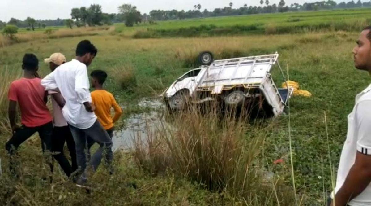 Bihar News : नवादा में बड़ा सड़क हादसा, चुनाव प्रचार वाहन के पीछे लटके चार बच्चों की गयी जान