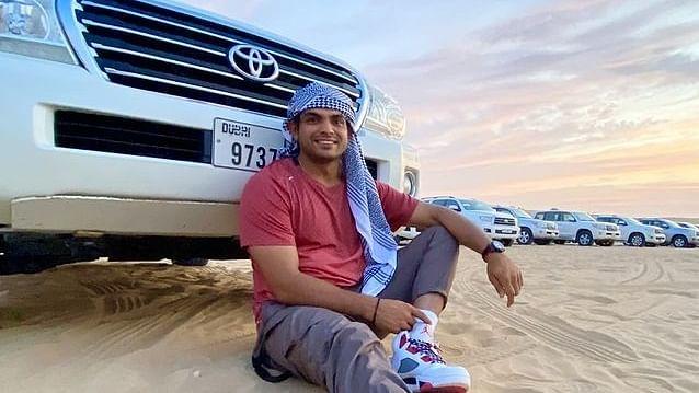 दुबई में गोल्डन ब्वॉय नीरज चोपड़ा ने की जमकर मस्ती, फेरारी वर्ल्ड से लेकर स्काईडाइविंग तक के लिये मजे