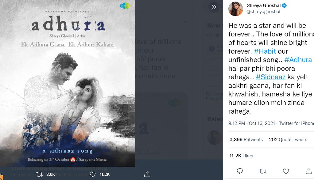 Sidharth Shukla का आखिरी सॉन्ग 'Adhura' का पोस्टर रिलीज, फैंस को इमोशनल कर रहा टैगलाइन-...एक अधूरी कहानी
