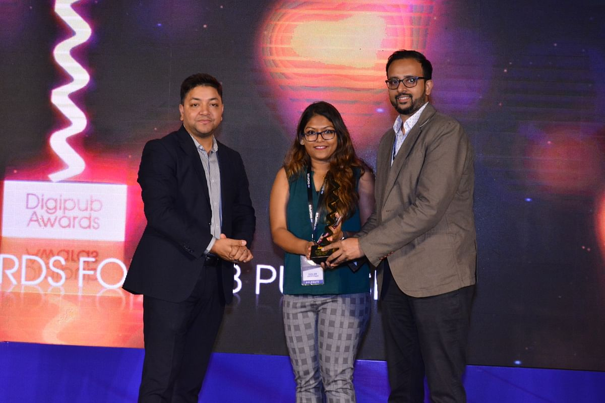 CNBC-TV18 receiving in the 'Best Article/Video Feature' category