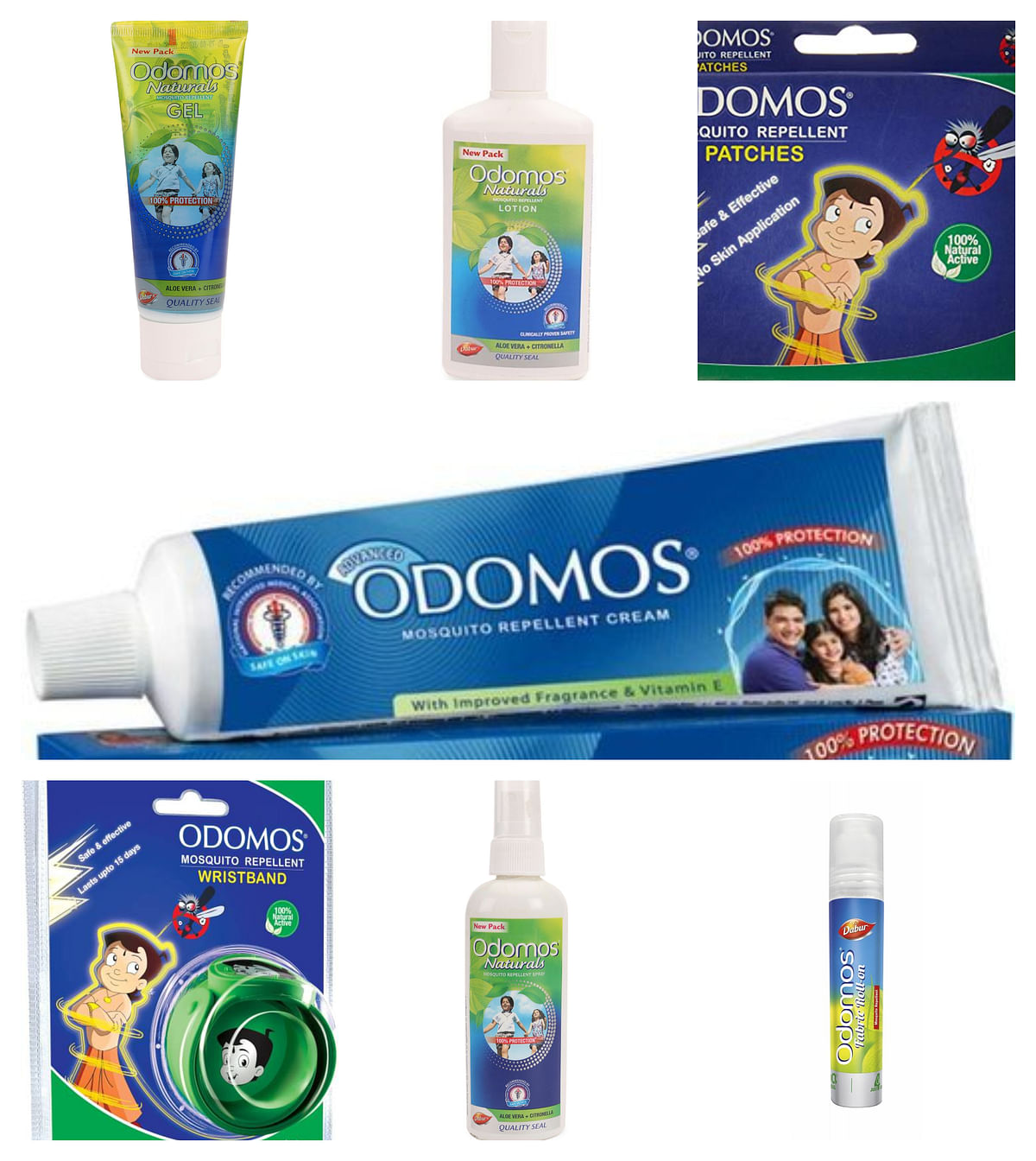Different formats of Dabur Odomos