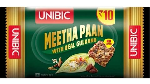 Unibic's 'meetha paan' flavoured snack bar