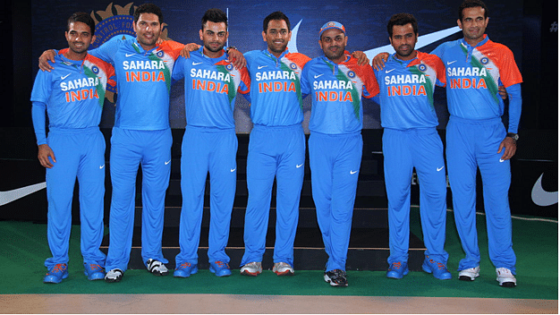 Sahara India Pariwar sponsored jersey