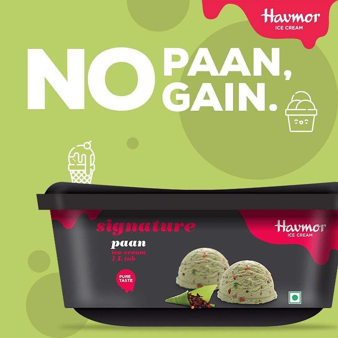 Havmor paan flavoured ice cream