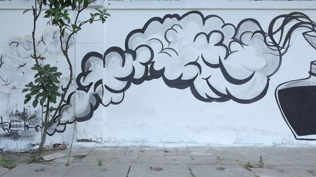 Campaign in pictures: Uber's street art with 'fuel emission' ink