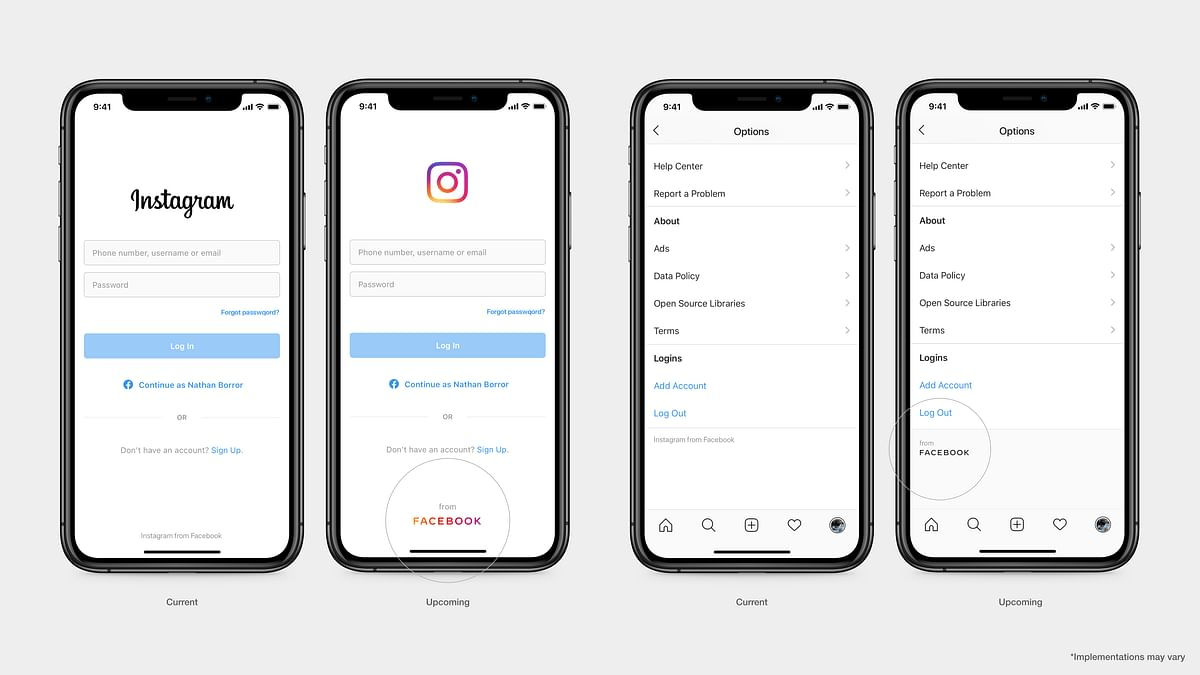 Facebook's new logo will be seen on Instagram, among others