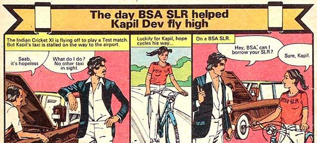 BSA SLR's comic strip with Kapil Dev