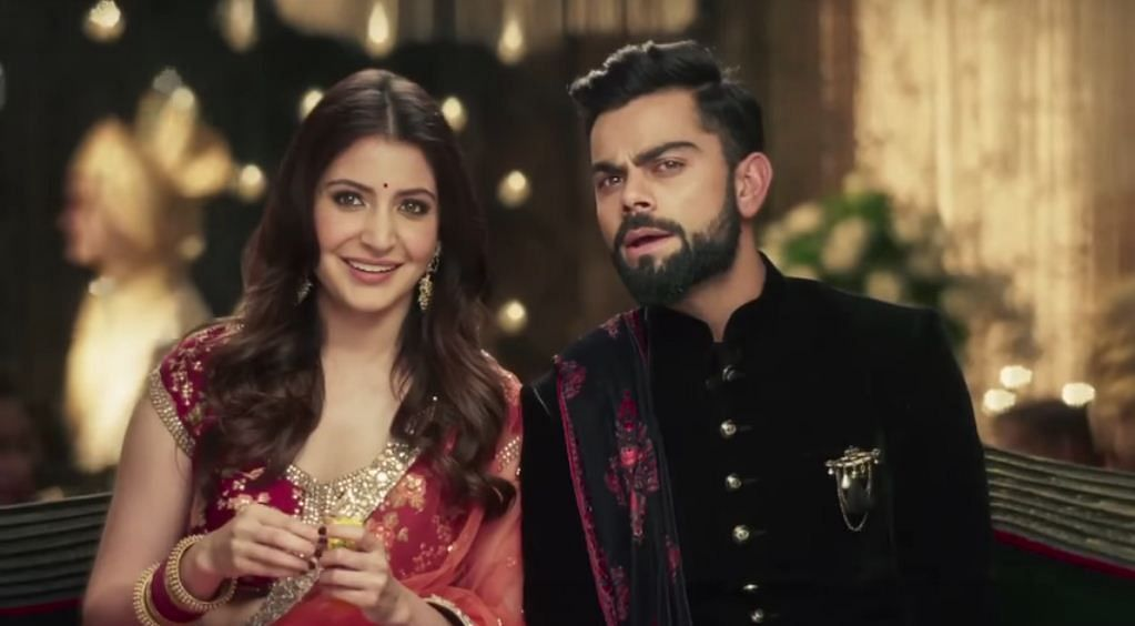 Anushka Sharma and Virat Kohli for Manyavar