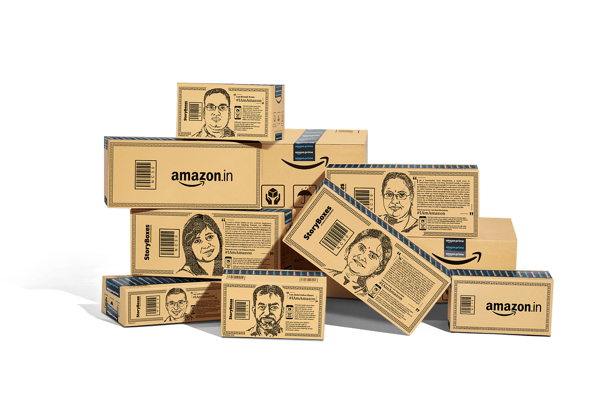 Amazon takes to delivery box storytelling