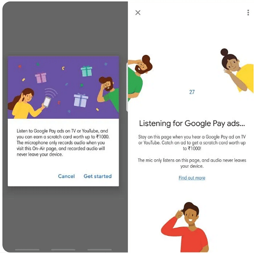 Google Pay reward ads