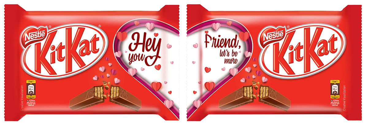 Nestlé extends Valentine's Day campaign to KitKat packs and bars