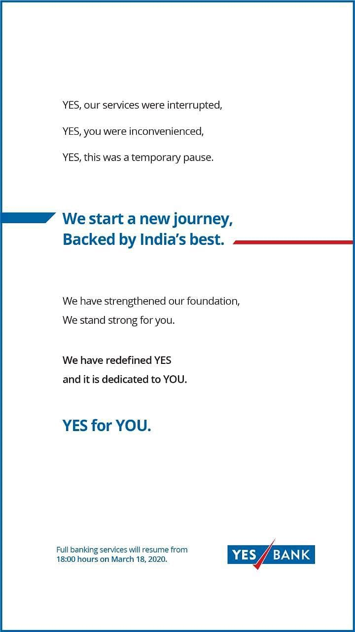 Yes Bank's crisis control ad leaves many fuming