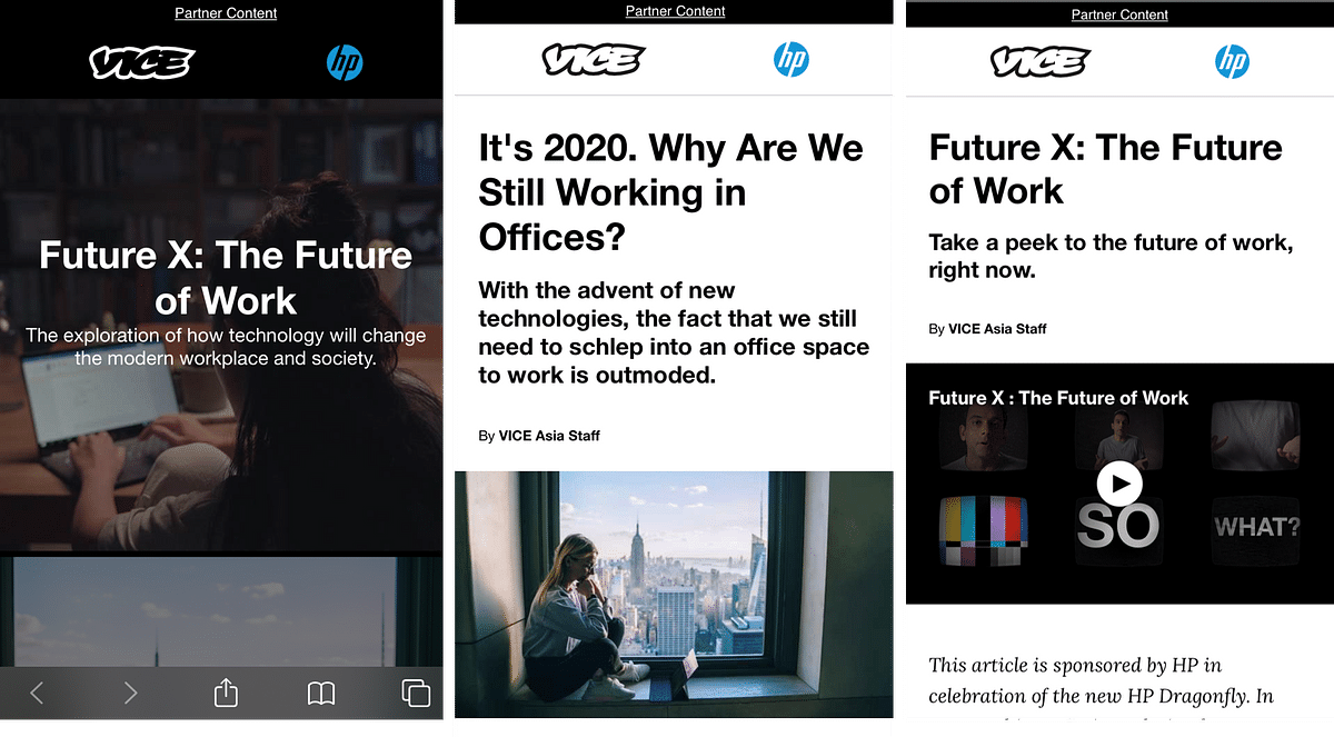 HP and PHD explore the future of work with VICE and The Economist