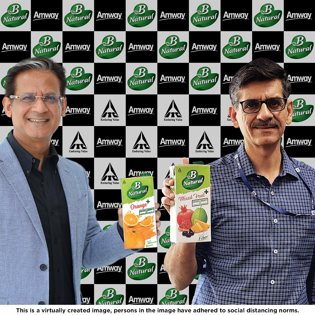 ITC's B Natural and Amway India collaborate to launch first of its kind immunity offering in Fruit beverages, with clinically proven ingredient