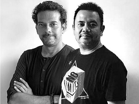 Basabjit (left) with Vikash (right)