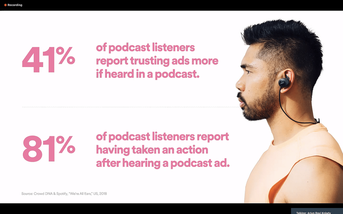 Spotify makes a case for audio, podcast ads