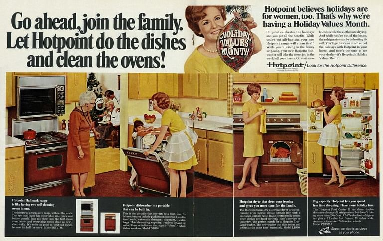 1968 Christmas ad for dishwasher