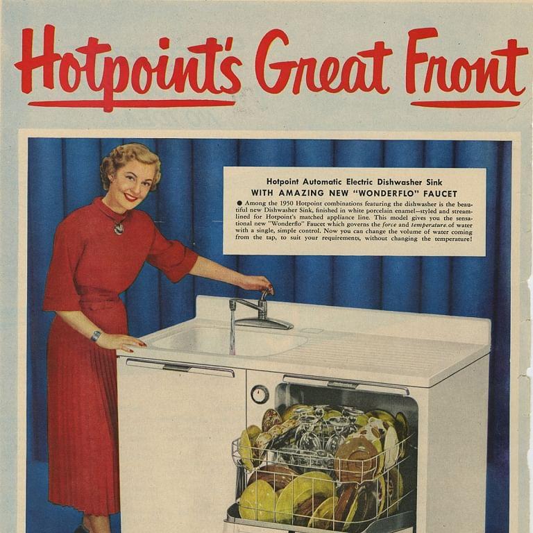 1950 dishwasher ad