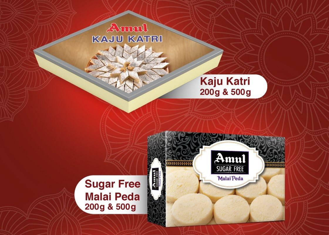 Amul Kaju Katri and Malai Peda