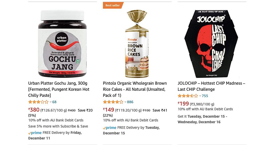 Korean snacks on Amazon