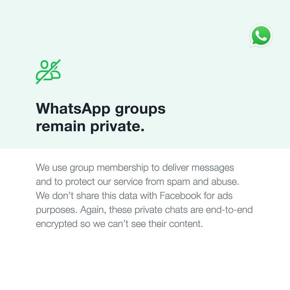WhatsApp takes out front page ads to reassure users about privacy policy