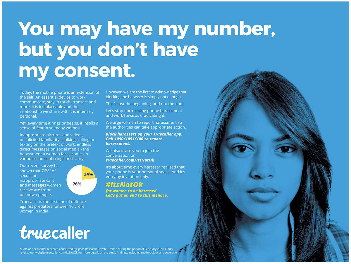 Truecaller calls out harassment, stalking; creates buzz with first print and outdoor campaign