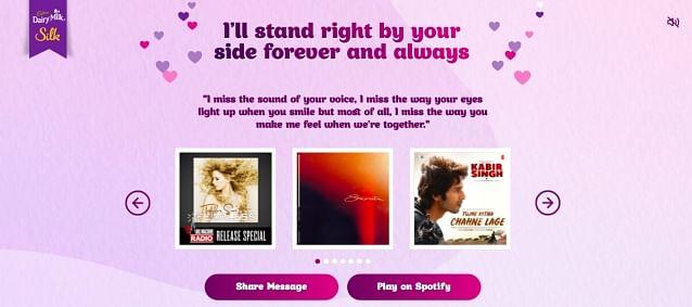 Spotify adds playlist to the Cadbury Dairy Milk Silk chocolate bars