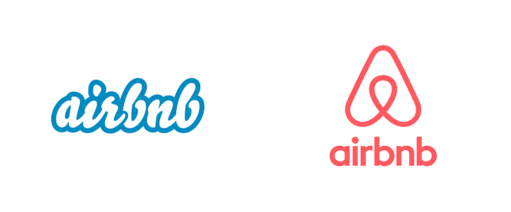 Airbnb's old and new logo