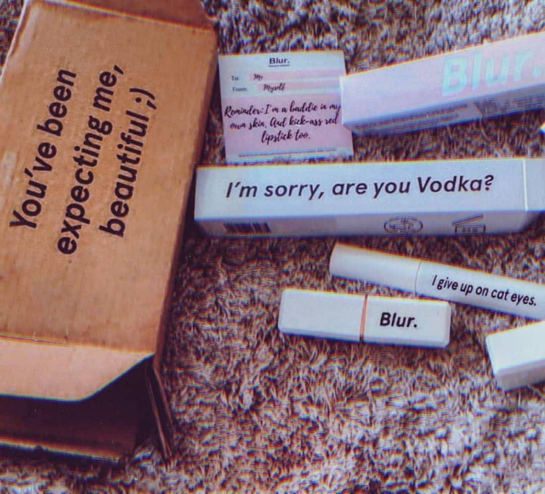 Blur makeup's packaging