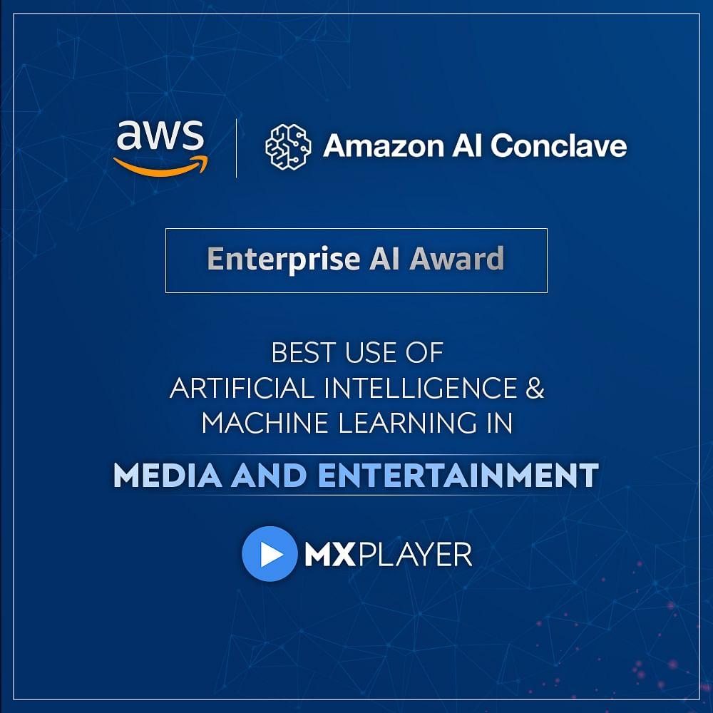 MX TakaTak wins Amazon's Enterprise AI Award in Media & Entertainment category