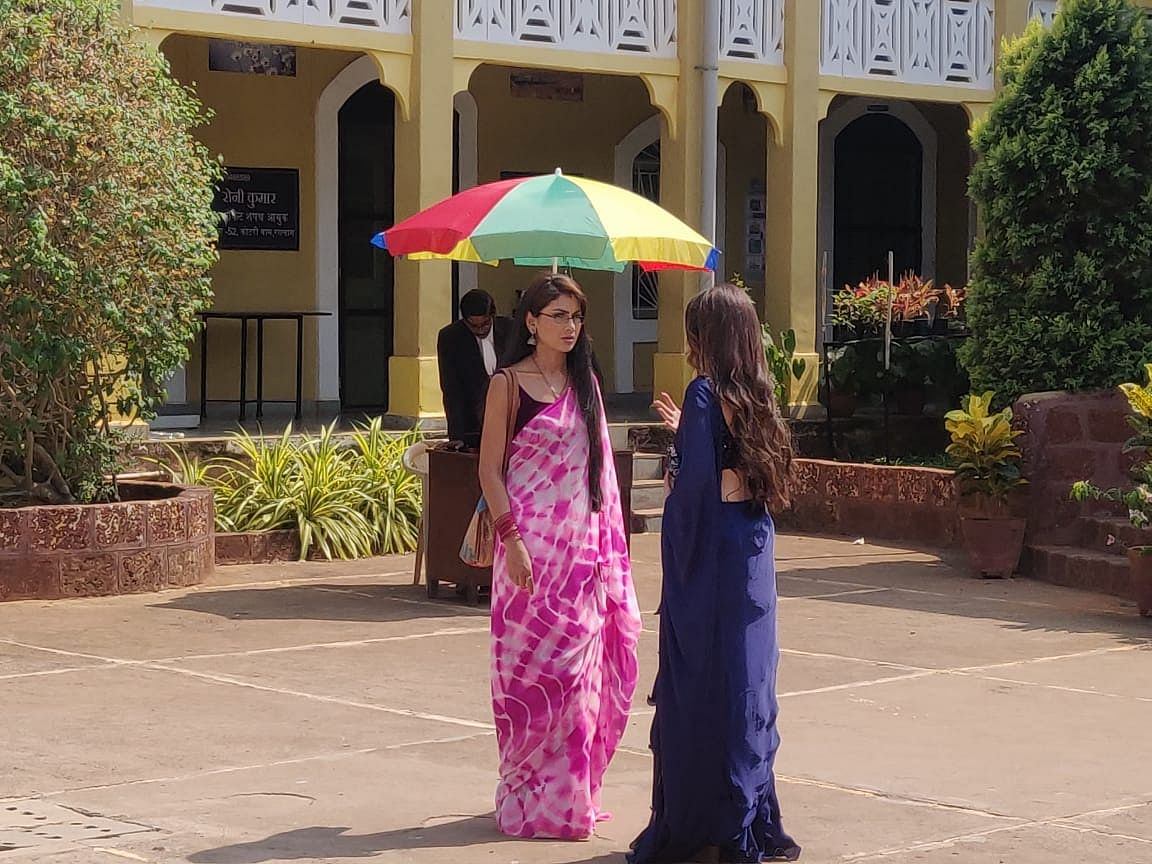 From the sets of Kumkum Bhagya in Goa