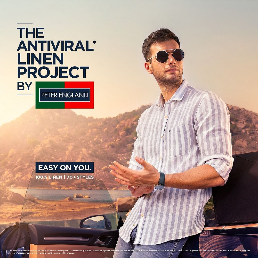 And now, Peter England launches linen shirts infused with antiviral technology