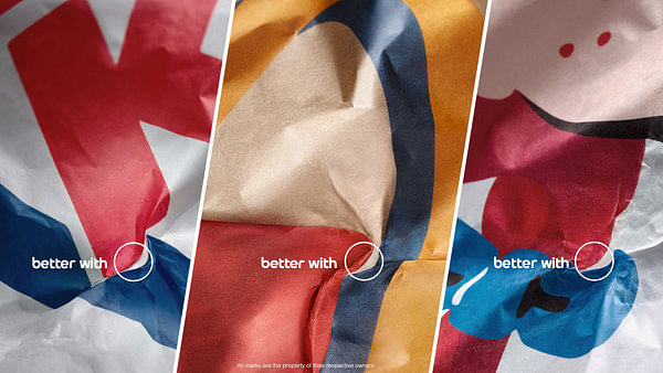 Pepsi uses hidden logos to claim it goes better with burgers than coke