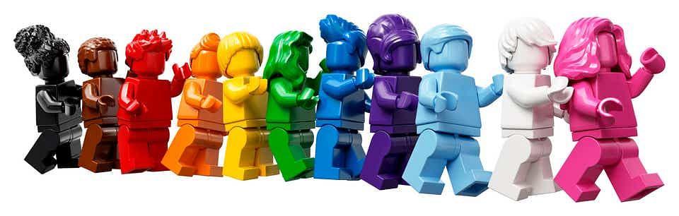 A LEGO set celebrating Pride Month and diversity