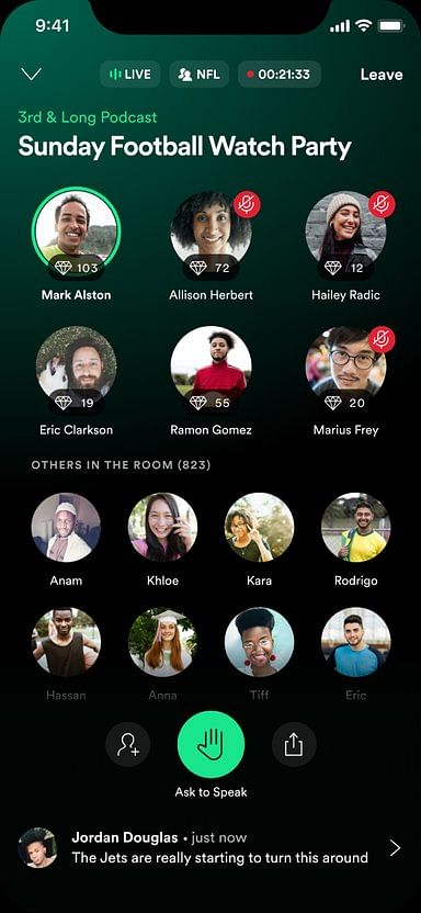 """Spotify launches live """"social audio app"""" Greenroom; takes on Clubhouse and Twitter Spaces"""
