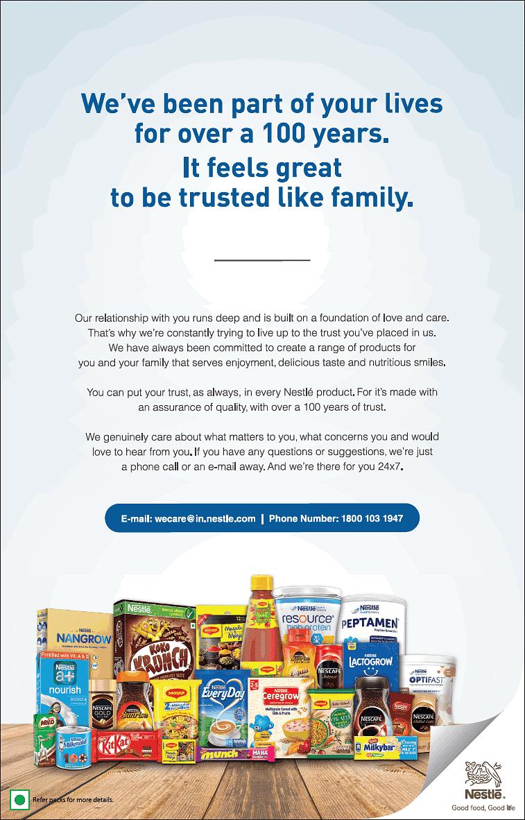 Nestlé print ad