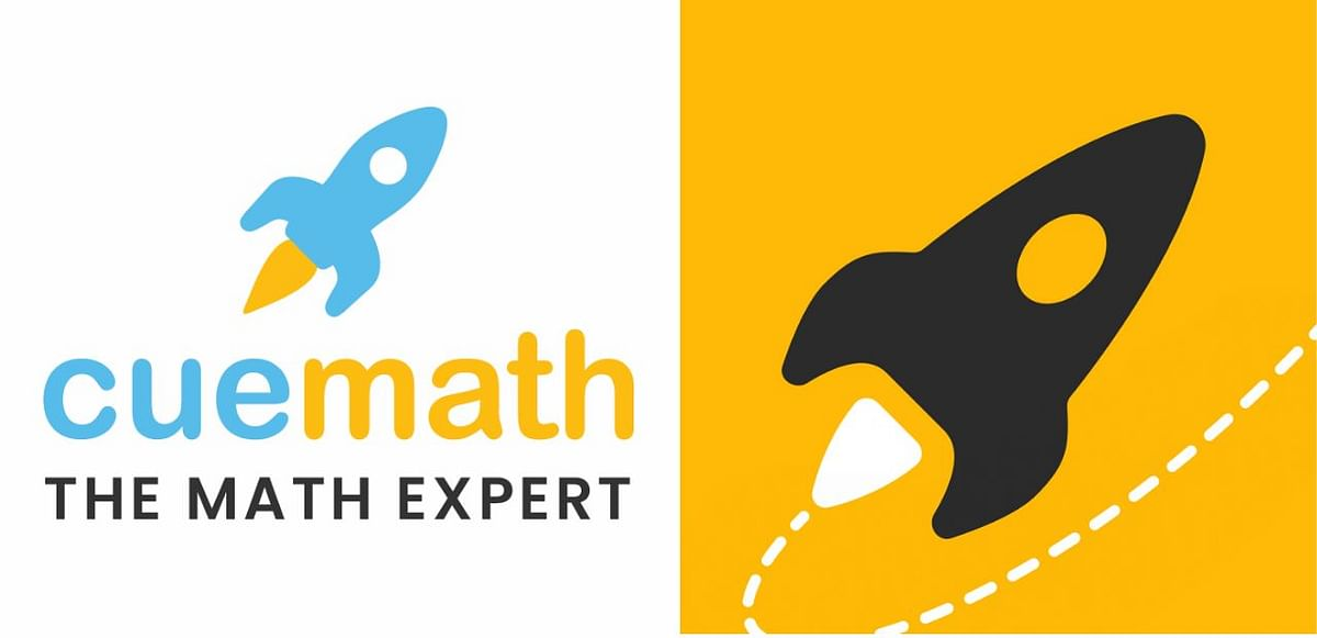 Cuemath's old logo (L) and new logo (R)