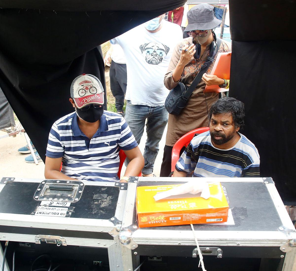 Nitesh Tiwari at the set in MP
