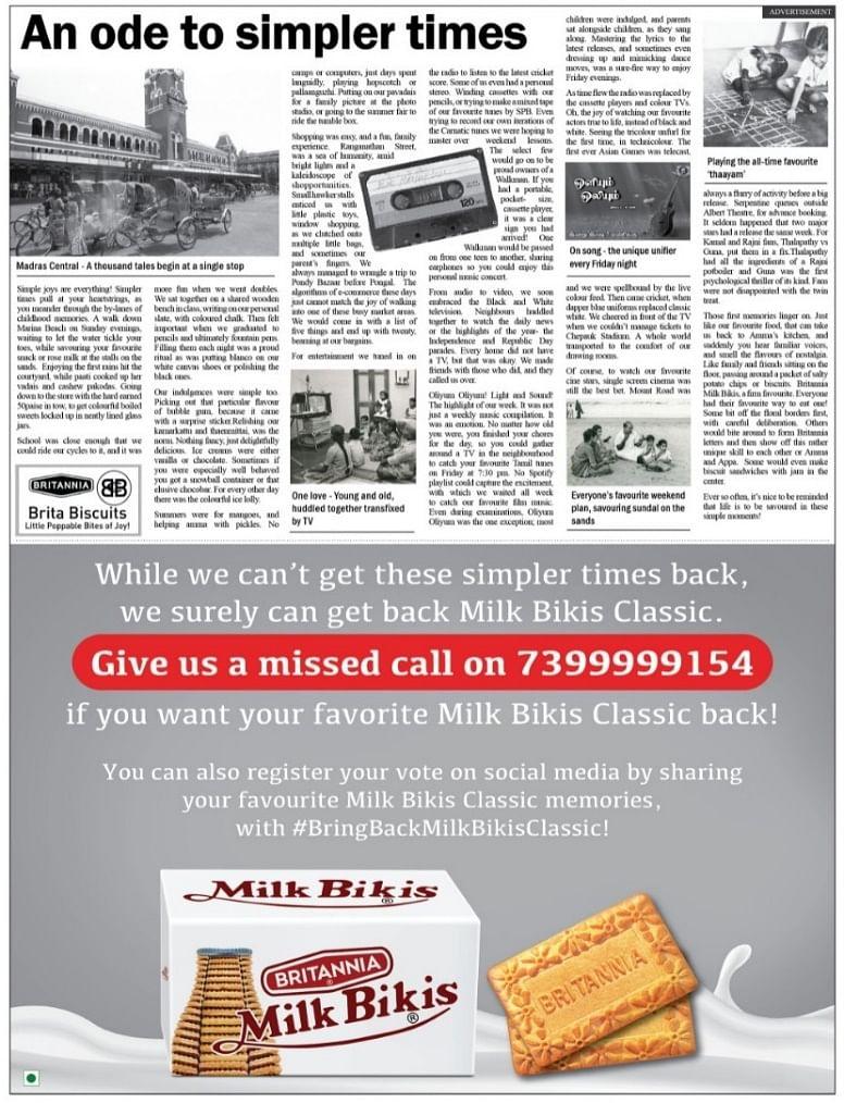 Britannia Milk Bikis rides the nostalgia train in Tamil Nadu in a new campaign