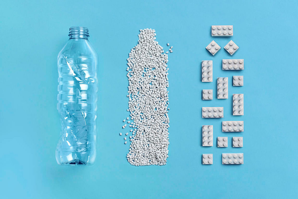 LEGO Group unveils building blocks made from recycled plastic