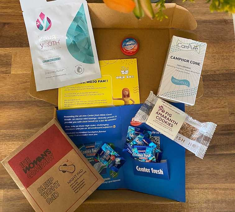A sample of the curated products in Mojo Box