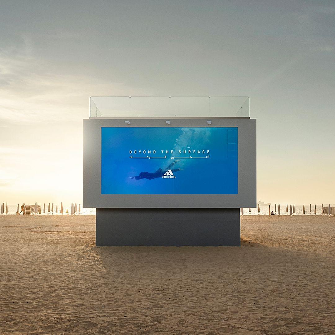 You can swim in this Adidas billboard on a Dubai beach, no really