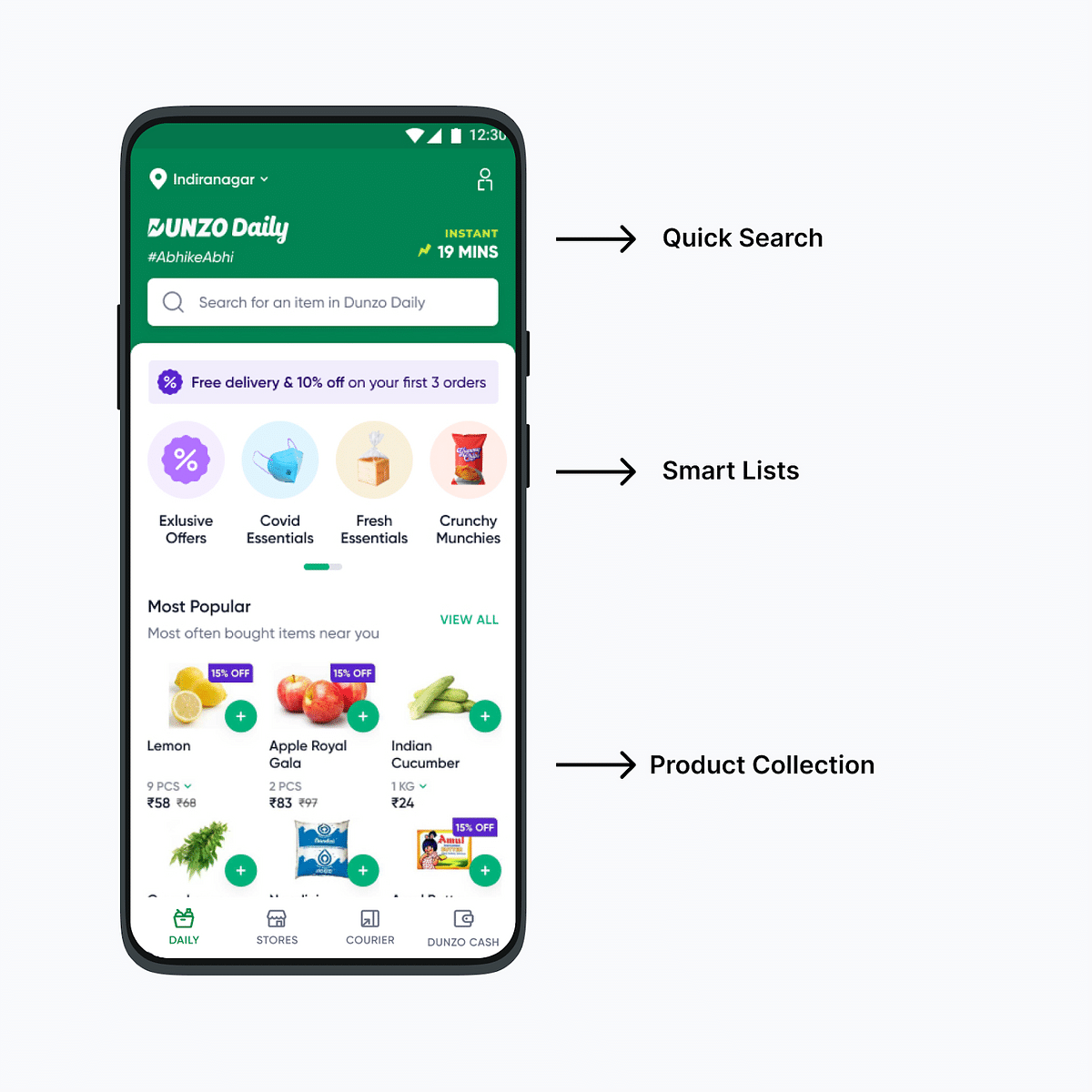 Where to find Dunzo Daily