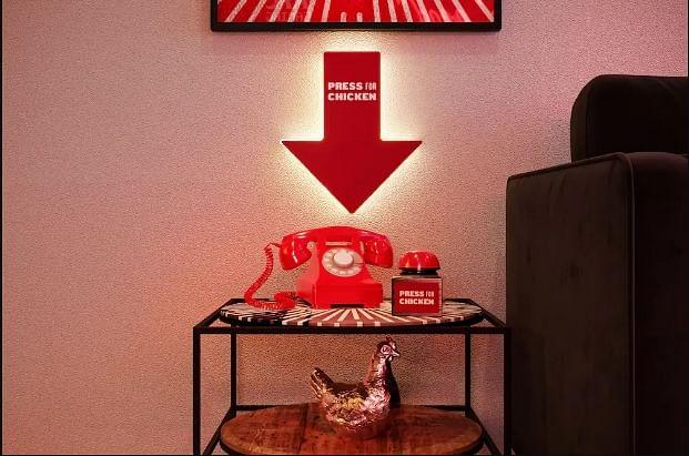 'Press for Chicken' button